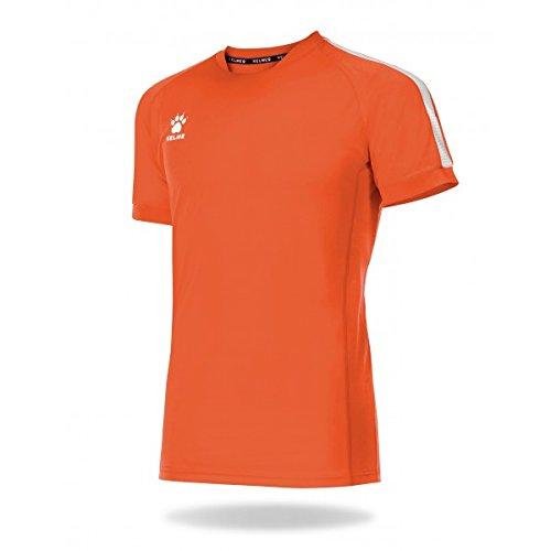 Kelme Global Maglietta Calcio, Bambini, Bambino, Global, Arancione/Bianco, M