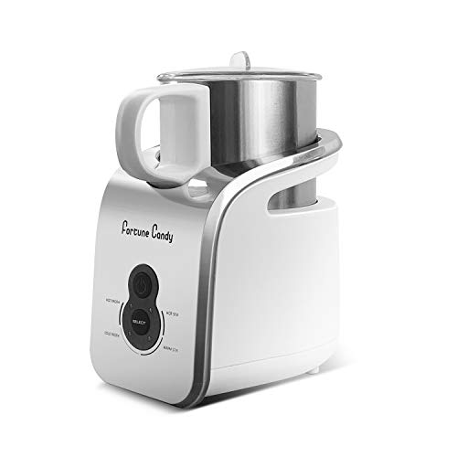 Fortune Candy Milk Frother, Detachable Jug, Electric Automatic Milk Foam Maker and Warmer for Latte and Cappuccino, ETL & LFGB Certified, BPA Free