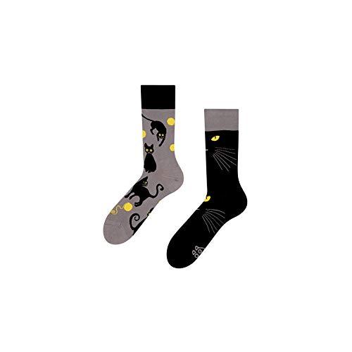 Good Mood Katzen Buntes Design-Geschenk Socken 1 Paar, Mehrfarbig, UK9-12/EU43-46/US10-12