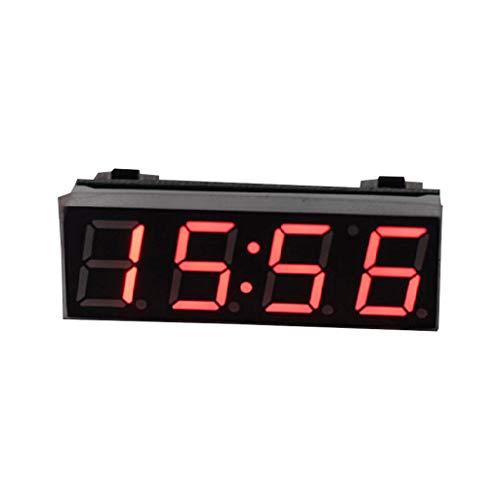 BIlinli Auto Digital Tube Elektronische Uhr LED 3-in-1-Zeit + Temperatur + Spannung eine Basisversion der elektronischen Uhr mit Mikrocontroller