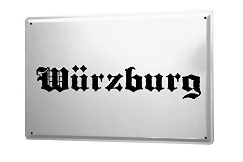 leotie fashion&lifestyle Targa in Metallo Würzburg Città Nome e Cognome Città Città Nome Capitale Città 20x30