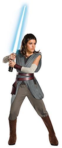 Star Wars The Last Jedi Super Deluxe Rey Adult Fancy dress costume Large