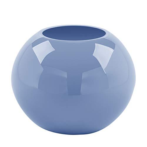 Fink 115274 Vase, Blumenvase - Moon - Glas - blau - Höhe 13,5 cm - D: 16 cm