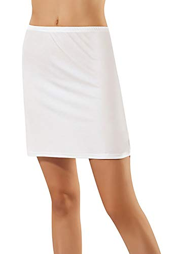 BALI Lingerie - Damen Kurz Unterrock - 1015 (M, Weiß)
