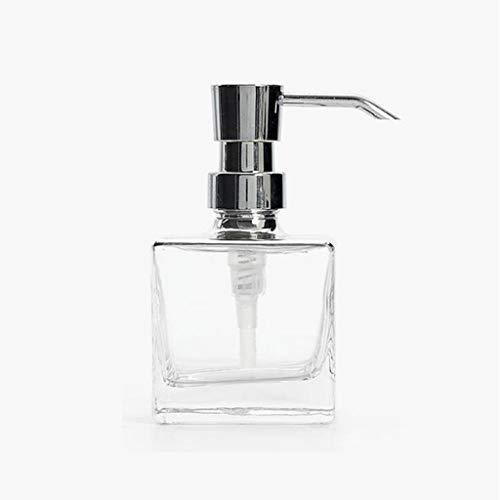 Dispensadores de Loción y de Jabón Cuadrado dispensador de jabón dispensador de jabón de baño del hotel plato Botella Champú Gel de ducha de cristal de Prensa Conjunto de botella de loción Dis