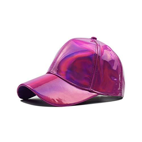 Taoyouzj Sombrero Unisex Ajustable Shiny Holograph Holograph Holograph Hape Rainbow Reflective Hip Hop Rave Hat Metallic Casual Cap (Color : Color 1)