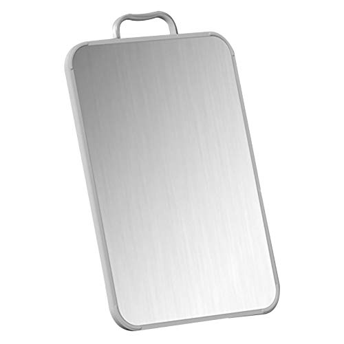 Stainless Steel Cutting Board Home Kitchen Easy Clean Non Toxic Double Sided Chopping Board 15.9 x 10.6inch,16.7 x 10.6inch