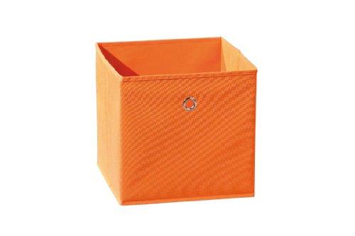 Inter Link Faltkiste Faltbox Faltbare Aufbewahrungsbox mit Metallöse aus Stoff in Orange