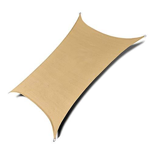 T5S6 YaPin Sonnenschirm schwarz für Sonnenschirm Netto mit Sonnenschutz Netto Verschlüsselung für die Verdickung von Sonnenschirmen für Garten mit Balkon (120 g/Quadratmeter, Stärke 0,2 mm) 3mx6m