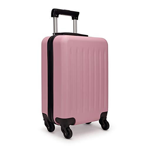 "Kono Light Weight Medium 24"" Hard Shell Suitcase 4 Spinner Wheels ABS Luggage Travel Trolley Case (24', Pink)"