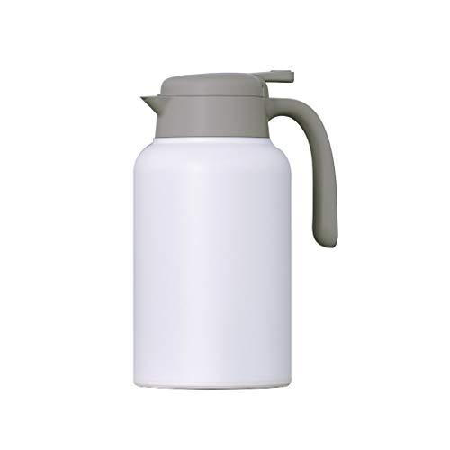 Isolatiepan voor huishoudens met kleine capaciteit, draagbaar, roestvrij staal, kleine waterkoker, voor kantoor, warm water, pot voor waterkoker, 2000 ml Wit