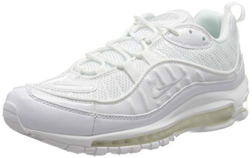 Nike Air Max 98, Scarpe da Corsa Uomo, White/Pure Platinum/Black/Reflecting Silver, 43 EU