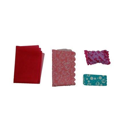 Barbie piezas de repuesto Dreamhouse Dollhouse X7949 | Juego de artículos blandos de repuesto | Juego de dosel rosa, almohada púrpura, manta rosa y toalla azul
