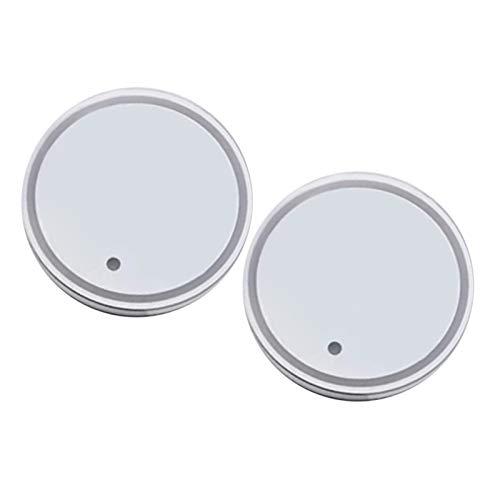 MERIGLARE 2PCS LED Portavasos Luminiscente Posavasos 7 Colores Carga USB para Tapete de Bebida