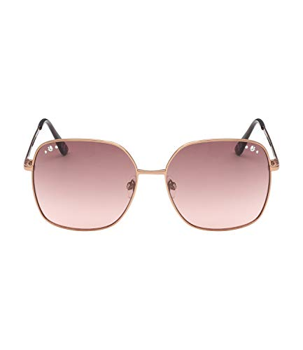 SIX Gafas de sol con montura de metal y diamantes de imitaci