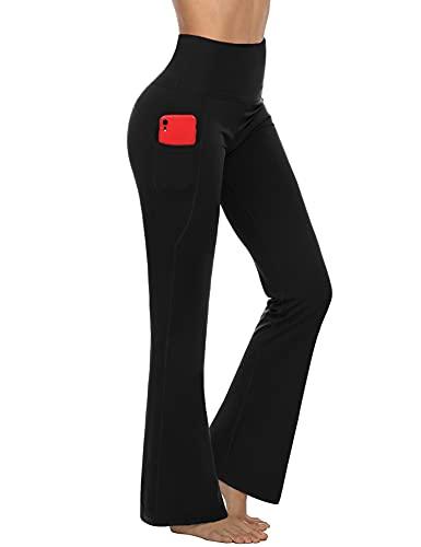 Sykooria Pantalon de Yoga Femme Taille Haute Décontracté Pants de Sport Jogging Pantalon Elastique