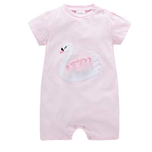 Baby Mädchen Pyjama Kurzarm Overalls Strampler Baumwolle Spielanzug Outfits 0-3 Monate