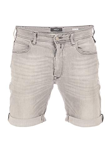 Replay Herren RBJ.901 Shorts, Grau (Grey Denim 10), W(Herstellergröße: 34)