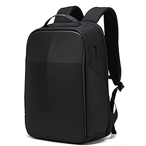 Mochila de Regazo Impermeable para Hombres Mochilas de Viaje de Negocios con Carga USB Mochila Multifuncional de Gran Capacidad - Negro