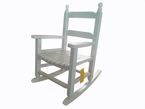 rockingrocker - K081WT Durable White Child's Wooden Rocking Chair/Porch Rocker - Indoor or Outdoor - Suitable for 3-7 Years Old