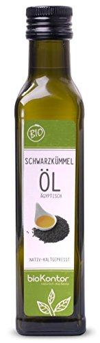 Schwarzkümmelöl ägyptisch BIO 250 ml I gefiltert - 100% rein I nativ und kaltgepresst von bioKontor