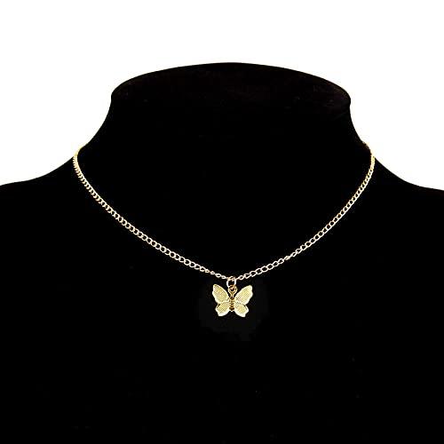 XCWXM Collar de Acero Inoxidable Multicapa para Mujer, Vintage, Oro con Cadena Bohemia, veintiuno