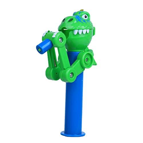 Creative Lollipop Robot Holder Novelty Dinosaur Shape Kids Toy Gift for Children Lollipop Candy Storage Green