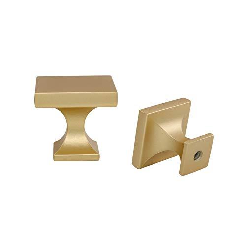 Perilla de cajón de latón para gabinete, cajón cuadrado dorado, perilla moderna para gabinete de baño, gabinete de baño de 1 pulgada de ancho, 30 unidades