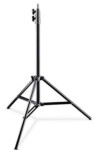 Walimex pro AIR 200 Lampenstativ 200cm - Lichtstativ mit Luftfederung Höhe max 200 cm, 4,5 kg Traglast, Aluminium, Leuchtenstativ für Fotografie Studio Outdoor