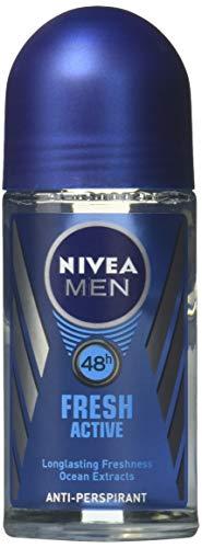 Nivea for Men Fresh Active 48 Hs Antiperspirant Deodorant Roll-on 50 Ml (1.7 Fl Oz) - (2-pack) by Nivea