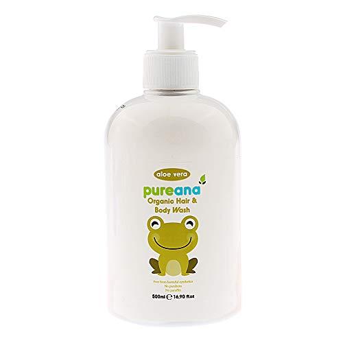 Pureana Baby and Child Hair and Body Wash with Organic Aloe Vera and Orange...