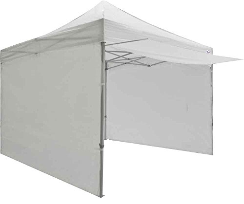 Impact Canopy 10' x 10' Canopy Tent with Awning, Sidewalls, Weight Bags, and Roller Bag, Instant Gazebo Shelter, White