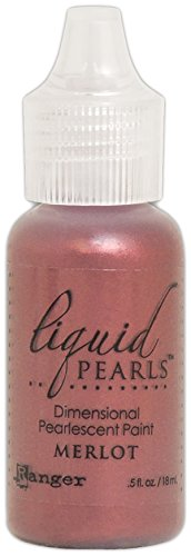 Ranger Liquid Pearls Merlot Red, Synthetisches Material, rot, 0.5-Ounce