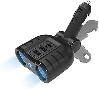 Divisor de Encendedor de Cigarrillos de 120W, Cargador de Coche USB de 48W DC 12V/24V con 18W PD3.0 + 18W QC3.0 + 12W USB2...