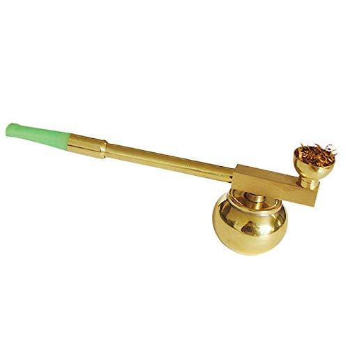 Zhaoronghua Kupfer Shisha,Vintage Wasserpfeife Messing Rod Stem Zigarettenspitze Super Bequeme Hochwertige Shisha Mit Einzigartigem Design,Gold