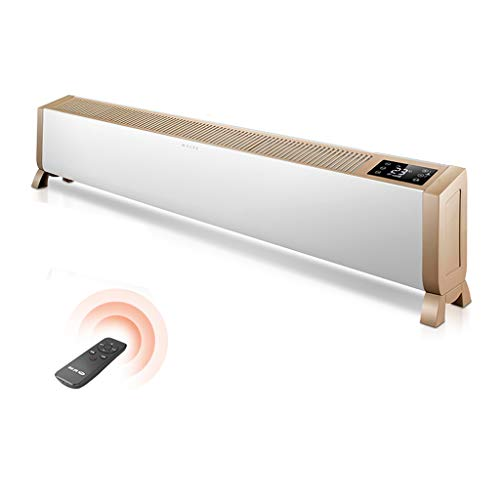 Baseboard Heater, Rapid Heating Smart Heating Aluminum Alloy Body with Remote Control Multiple Protection Home and Bath Dual Purpose