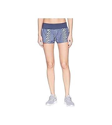 "Nike Womens Dri Fit 3"" Running Crew Shorts (X-Large 3, Blue)"