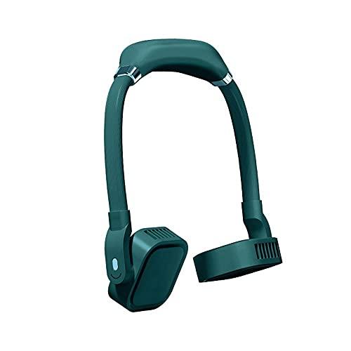 Kfhfhsdgsaxfs Ventilador Pequeño, USB Ventiladores de Silencio portátil Recargables Portátiles de Cuello Giratorio de Verano Viaje al Aire Libre Manos Libres Radiador de Manos refrigerador