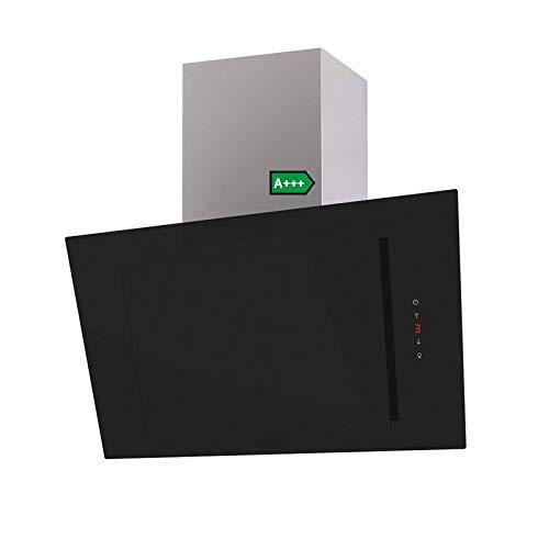 THALISSA Kopffreie Dunstabzugshaube schwarz black, 90 cm Glas 6 Leistungsstufen mit Nachlaufautomatik LED 44 dB(A) 900 m³/h (Abluft (ohne Umluft-SET))