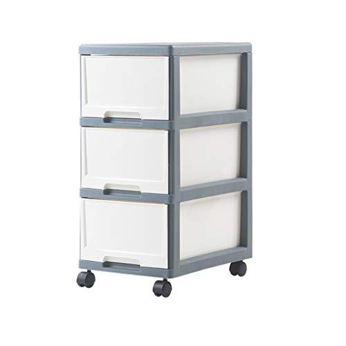 Aufbewahrungsschrank Abnehmbare Büroschublade Wohnzimmer Schlafzimmer Kunststoffspind Grau Blau ZHAOSHUNLI 1123 (Size : 3 Layers)
