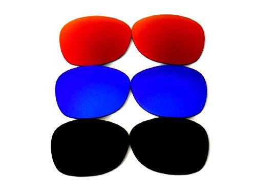 Lentes de repuesto para Galaxy Ray-Ban RB2132 New Wayfarer 52 mm (no 55 mm) negro/azul/rojo polarizadas 100% UVAB