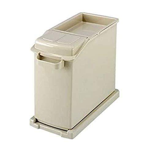 Recipientes para Cereales 25kg Control de plagas de Alta Capacidad Harina Caja de Almacenamiento Hogar a Prueba de Humedad Rice Bin Multifuncional Flip Rice Bucket