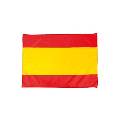 Clapper Bandera de España Balcon y Ventana 100x70cm Suave y Resistente poliéster con Cintas de Ajuste.