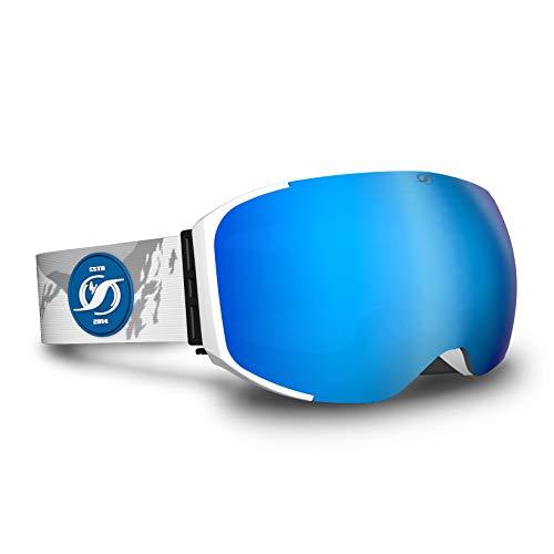 HYSTERESIS Freeride Magnet JILIN Mountain - Gafas De Esquí con Lentes Magnéticas Intercambiambles (2 Lentes Incluidas)