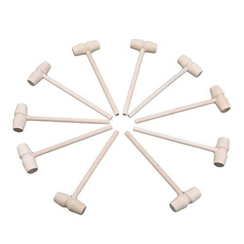 Ellepigy 10 Stücke Mini Holzhammer Kinder Stampfen Spielzeug Kreative Schlagen Hammer Mallet Pädagogisches Spielzeug Set