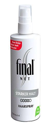 Final Net Haarspray Starker Halt - Dauerhaft Starker Halt - Duftneutral, 1er Pack (1 x 125ml)