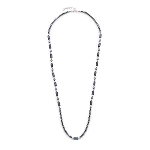Leonardo Jewels Damen Halskette Falena Edelstahl Glas grau 90 cm 016372