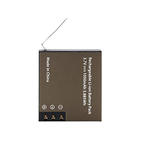 Lorenlli Batería de Litio para cámara Deportiva 1050mAh PG1050 para EKEN Series 4 * 4 * 1.3CM Batería Recargable de Iones de Litio 3.7V Negro