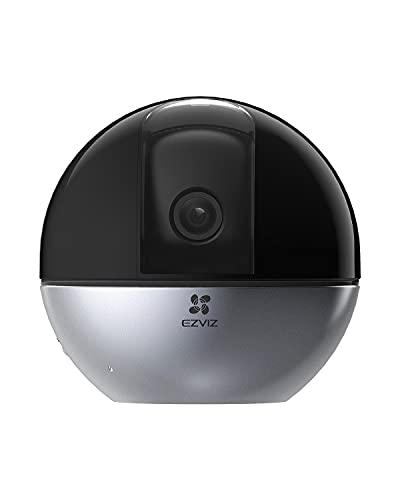 EZVIZ C6W Telecamera wi-fi interno 2K Telecamera Wi-Fi con obiettivo motorizzato 4MP, Visione panoramica a 360°, Visione notturna, Audio Bidirezionale, Compatibilie con Alexa, Rilevamento di persone