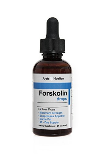 Arete Forskolin Liquid Drops Extract Natural Appetite Control - 100% Natural Weightloss Fast Absorbing Sublinguel Supplement